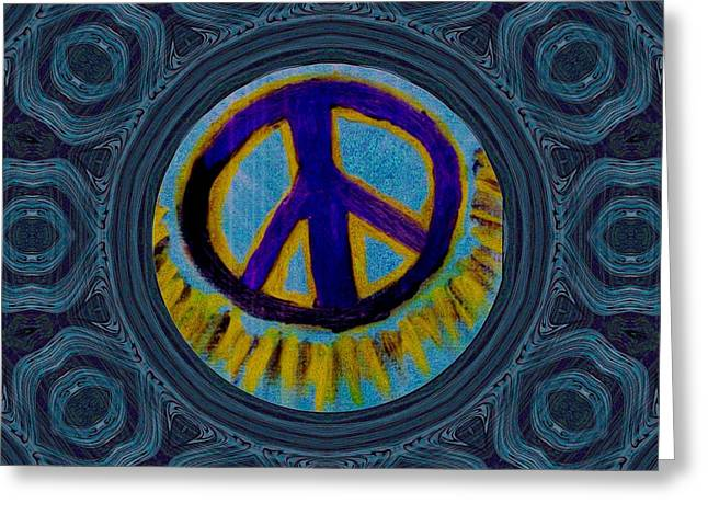 Peace On In Collage Style Greeting Card