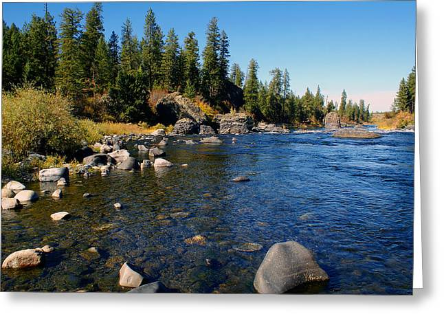 Peace On The Spokane River 2 Greeting Card