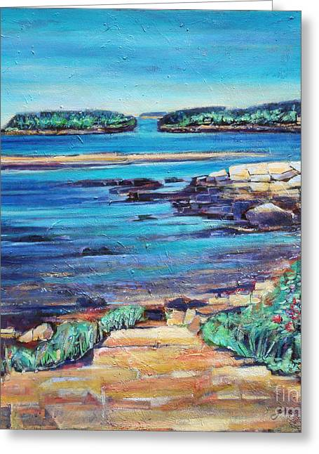 Peace - Seascape Greeting Card by Grace Liberator