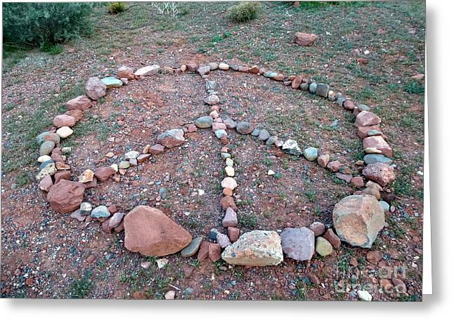 Peace Sedona Greeting Card by Marlene Rose Besso