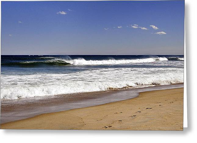 Peace Shores Greeting Card by Joanne Brown
