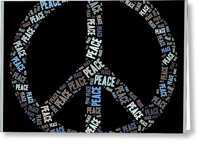 Peace Symbol 02 - 0102a Greeting Card