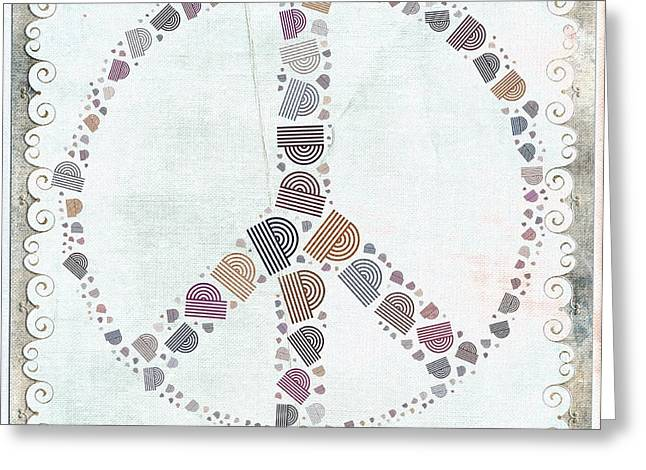Peace Symbol Design - S76at02 Greeting Card by Variance Collections
