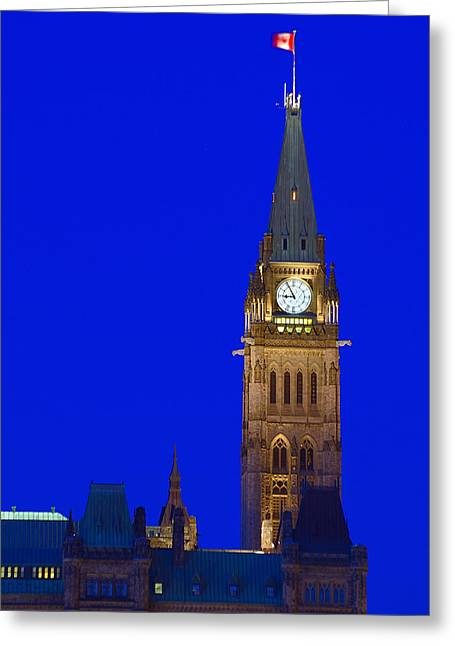 Peace Tower Greeting Card