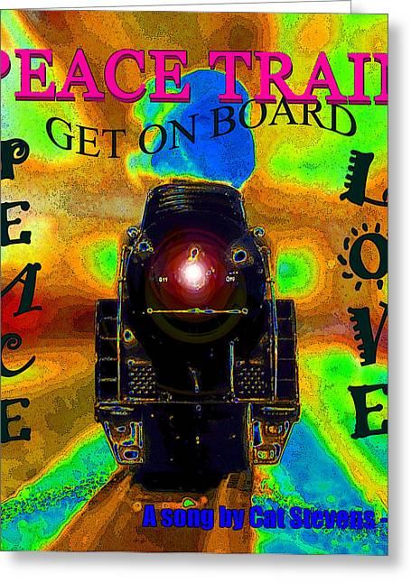 Peace Train A Song By Cat Stevens Greeting Card by David Lee Thompson