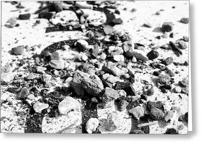 Peace Under The Rubble Greeting Card by Christy Beckwith