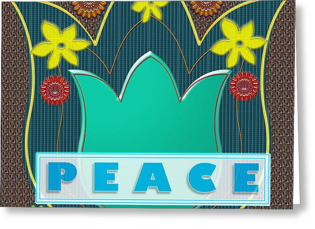 Peace War Political Social Economic Poverty Terrorism Justice Background Designs  And Color Tones N  Greeting Card by Navin Joshi
