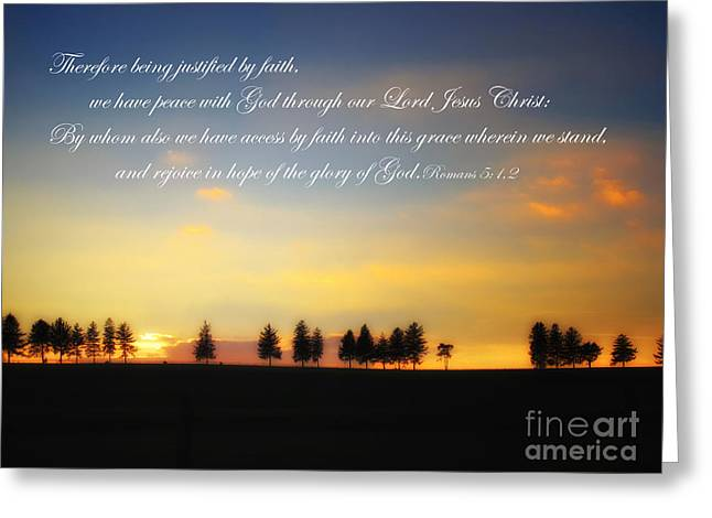 Peace With God Greeting Card