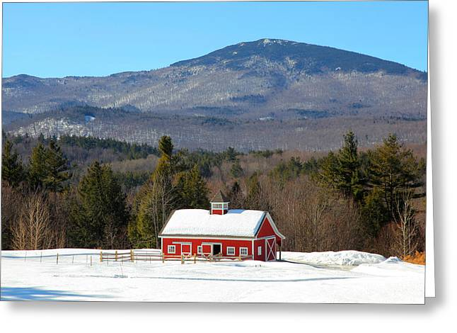 Greeting Card featuring the photograph Peaceful Barn by Larry Landolfi