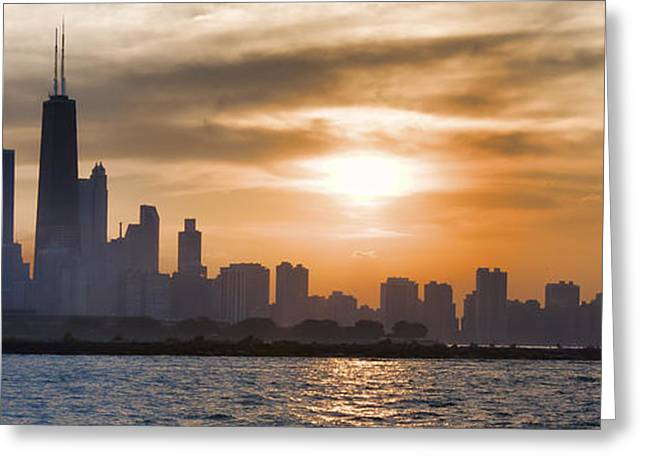 Peaceful Chicago Greeting Card by John Hansen