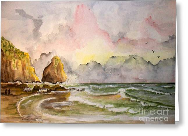 Peaceful Cove Greeting Card by Carol Grimes