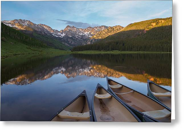 Peaceful Evening In The Rockies Greeting Card by Aaron Spong