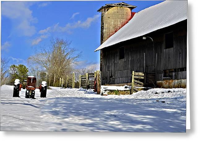 Peaceful Farm Greeting Card by Susan Leggett