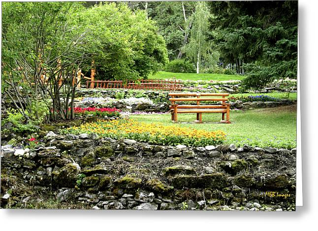 Greeting Card featuring the photograph Peaceful Garden by Margaret Buchanan