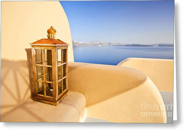Peaceful Hour Greeting Card by Aiolos Greek Collections