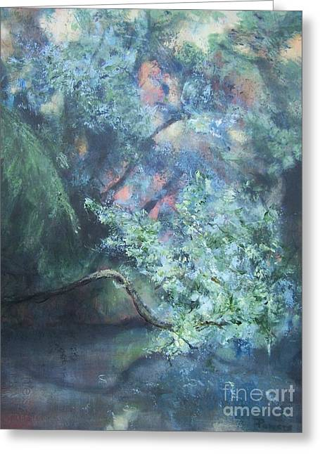 Peaceful Interlude Greeting Card by Mary Lynne Powers