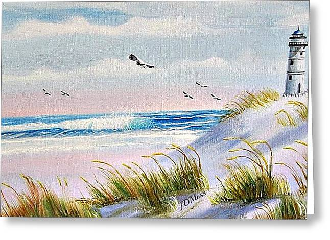 Peaceful Greeting Card by Janet Moss