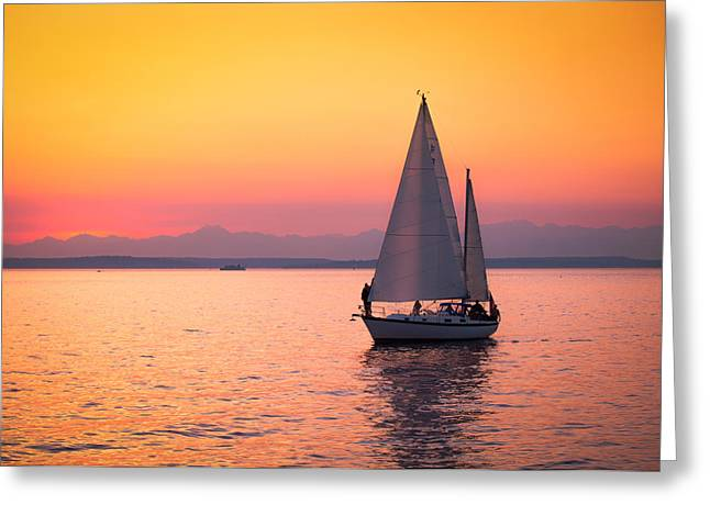 Peaceful Journey Greeting Card by Anthony J Wright