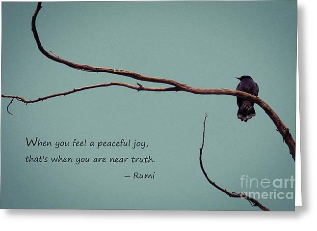 Peaceful Joy Greeting Card