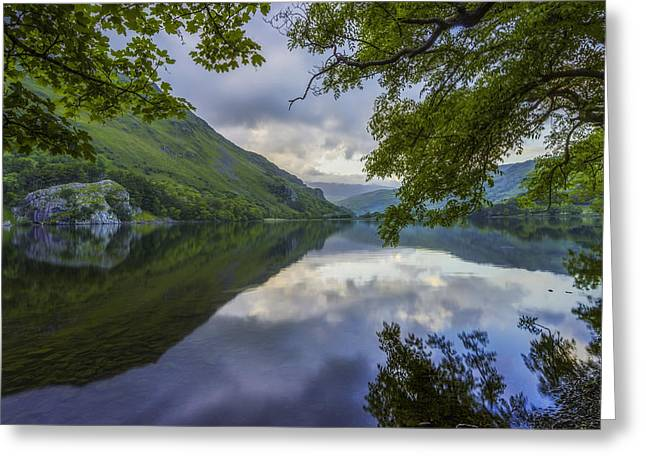 Peaceful Lakeside Greeting Card by Ian Mitchell