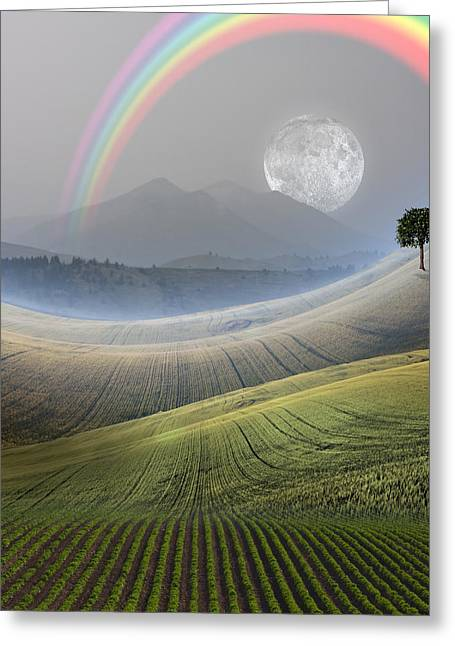 Greeting Card featuring the digital art Peaceful Landscape  by Bruce Rolff