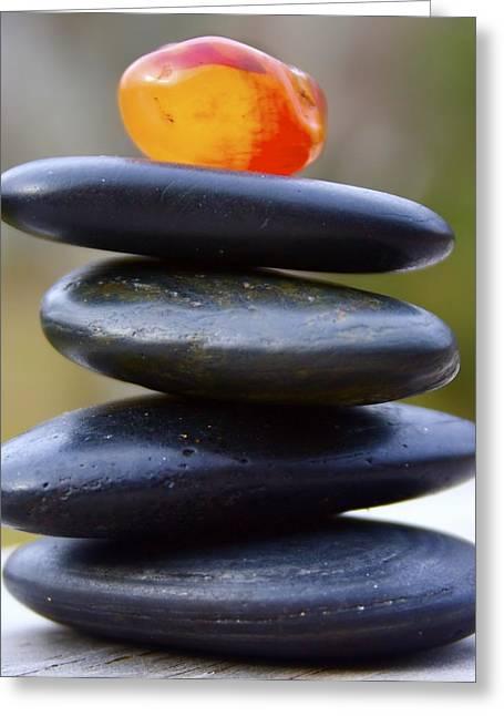 Peaceful Meditation Rocks Greeting Card by Jennifer Lamanca Kaufman