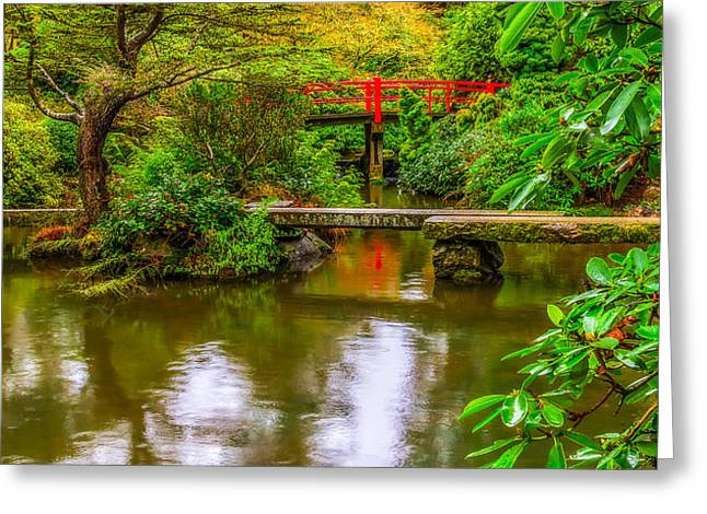 Peaceful Morning At Kubota Gardens Greeting Card by Ken Stanback