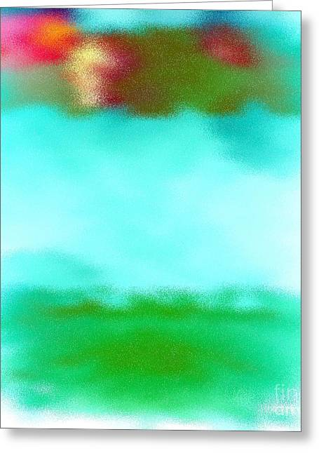 Peaceful Noise Greeting Card by Anita Lewis