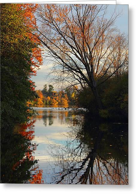 Peaceful October Afternoon Greeting Card
