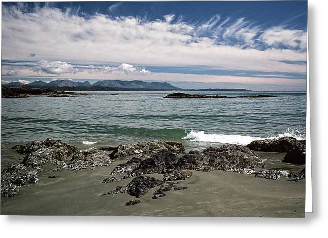 Greeting Card featuring the photograph Peaceful Pacific Beach by Richard Farrington