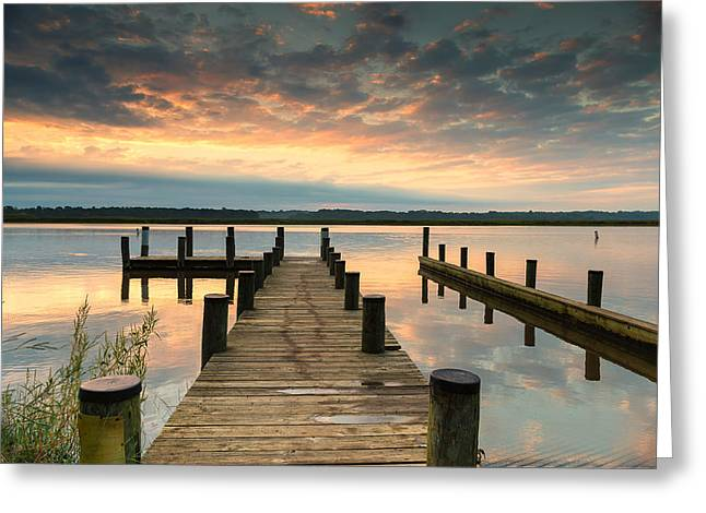 Greeting Card featuring the photograph Peaceful Patuxent by Cindy Lark Hartman