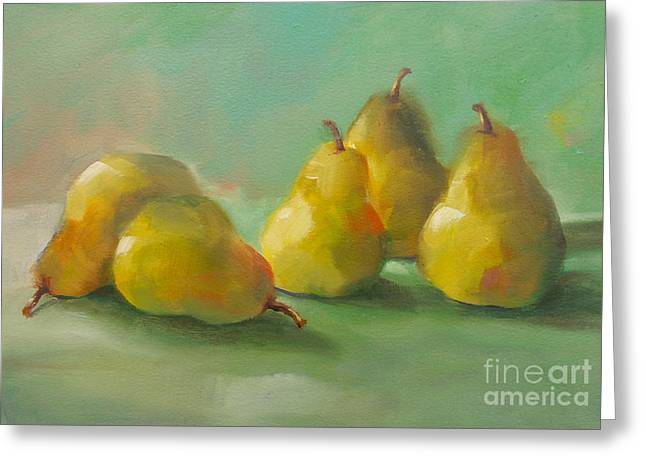 Peaceful Pears Greeting Card
