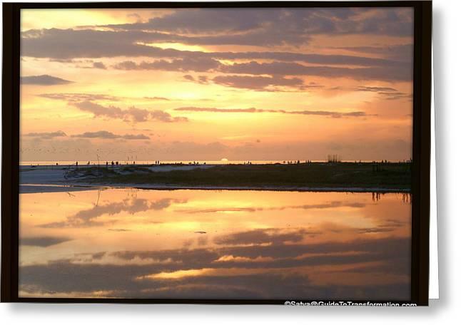 Peaceful Reflections Greeting Card by Satya Winkelman