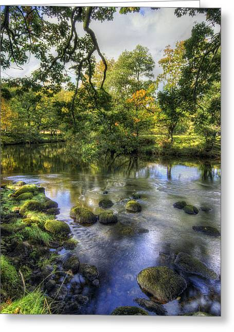 Peaceful River Greeting Card by Ian Mitchell