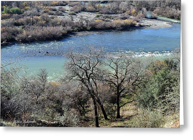 Peaceful River Greeting Card by Lula Adams