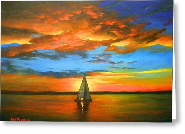 Peaceful Sailing Greeting Card
