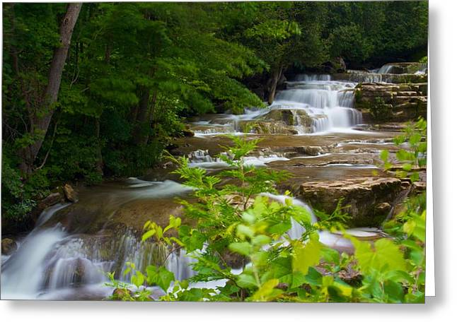 Greeting Card featuring the photograph Peaceful Stockbridge Falls  by Dave Files