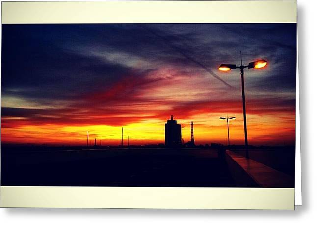 Peaceful Sundown Lights Greeting Card by Jacks Skystore