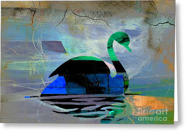 Peaceful Swan Greeting Card by Marvin Blaine