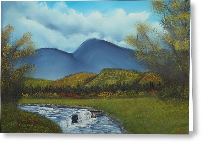 Peaceful Valley Greeting Card by Henry Parker