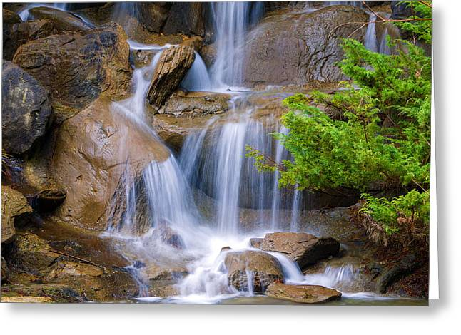 Greeting Card featuring the photograph Peaceful Waterfall by Jordan Blackstone