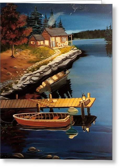 Greeting Card featuring the painting Peacefullness by Susan Roberts