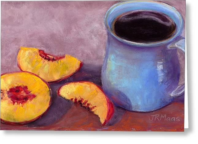 Peach Break Greeting Card by Julie Maas
