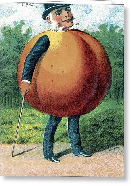 Peach, Bufford Fruit Card, 1887 Greeting Card