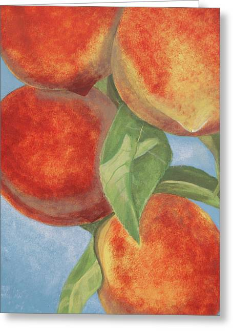 Peach Pizazz Greeting Card by Debora Baxter Jackson