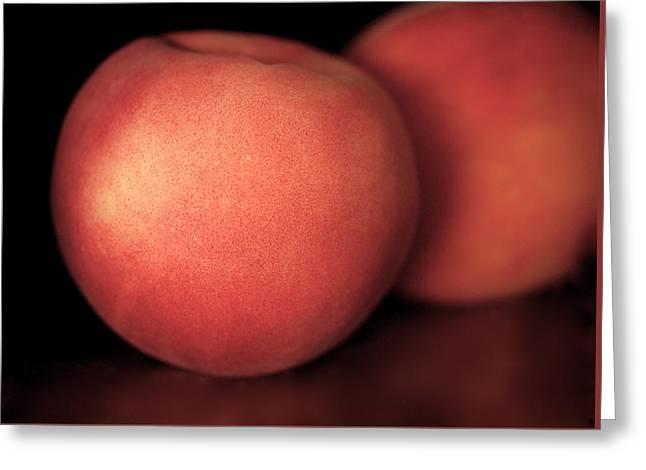 Peach Greeting Card by Rona Black
