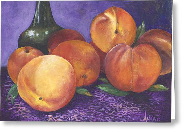 Peaches And Wine Greeting Card