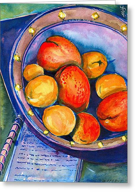 Peaches Greeting Card by Ion vincent DAnu
