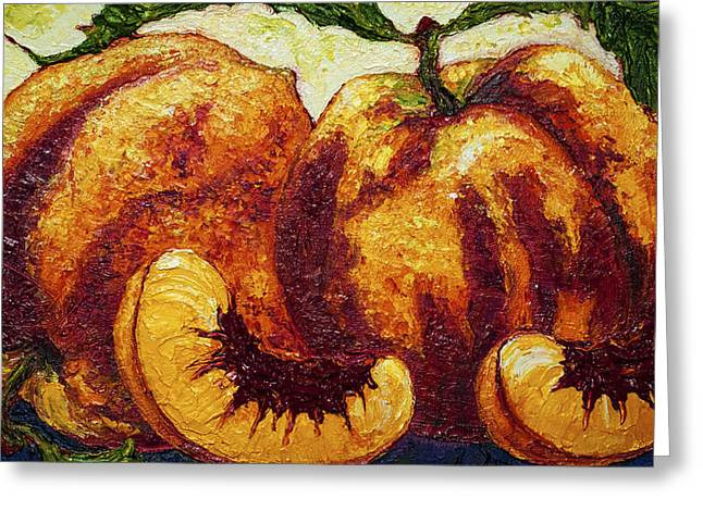 Peaches Greeting Card by Paris Wyatt Llanso