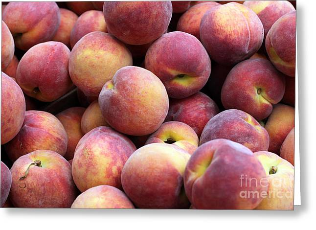 Peachy Greeting Card by Denise Pohl